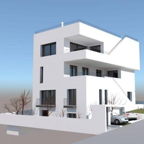Τριώροφη Πολυκατοικία με Υπόγειο Γκαράζ και Δώμα στου Παπάγου